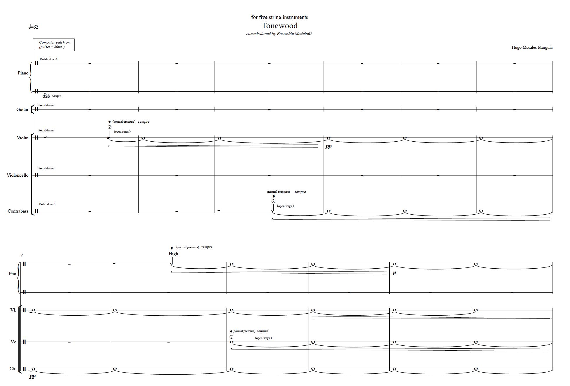 Score Tonewood Hugo Morales