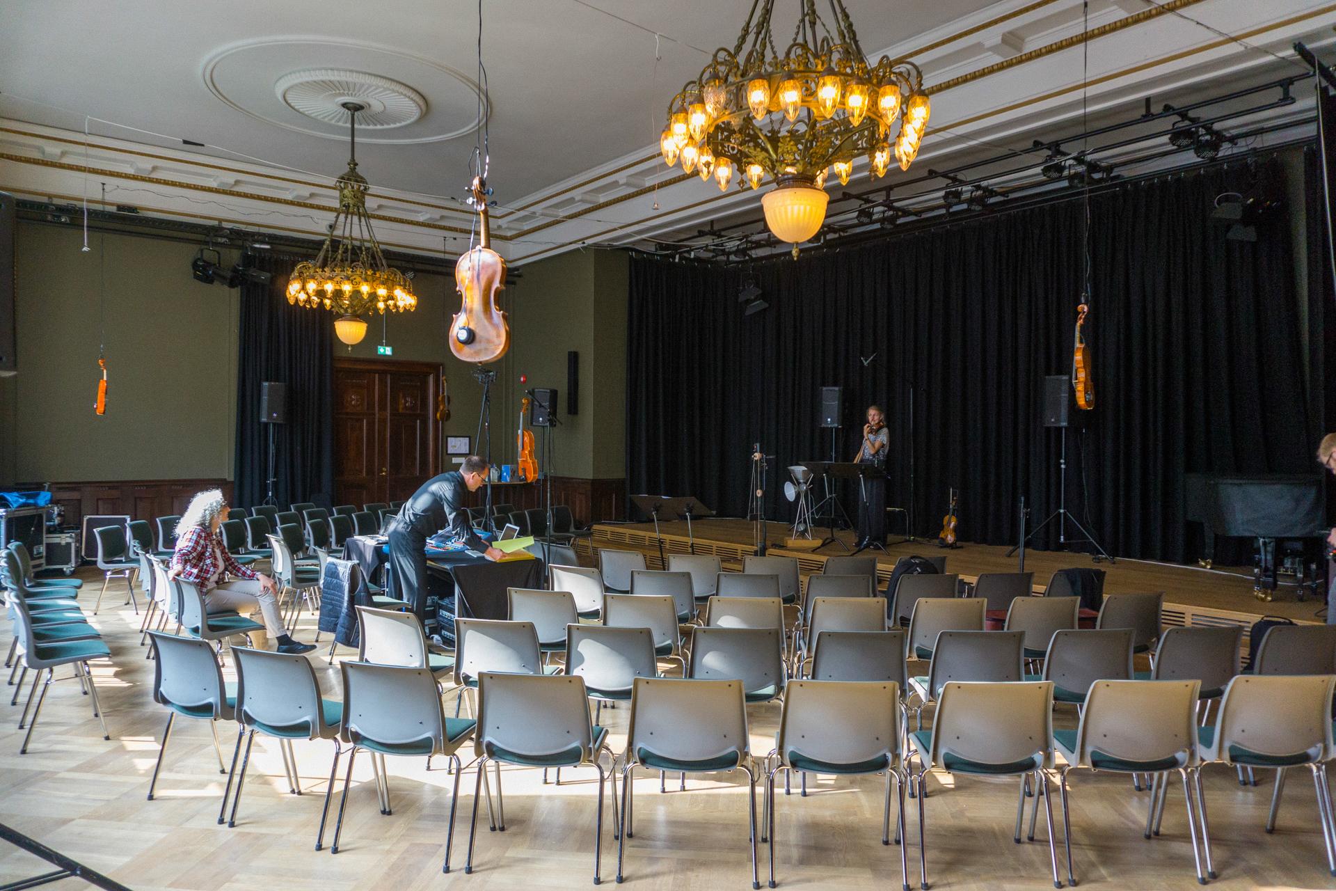 Violin loudspeakers Carola Bauckholt