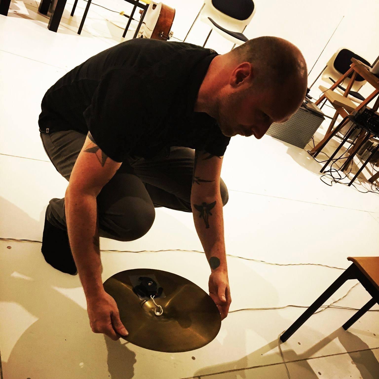 cymbal tactile transducer Simon Whetham