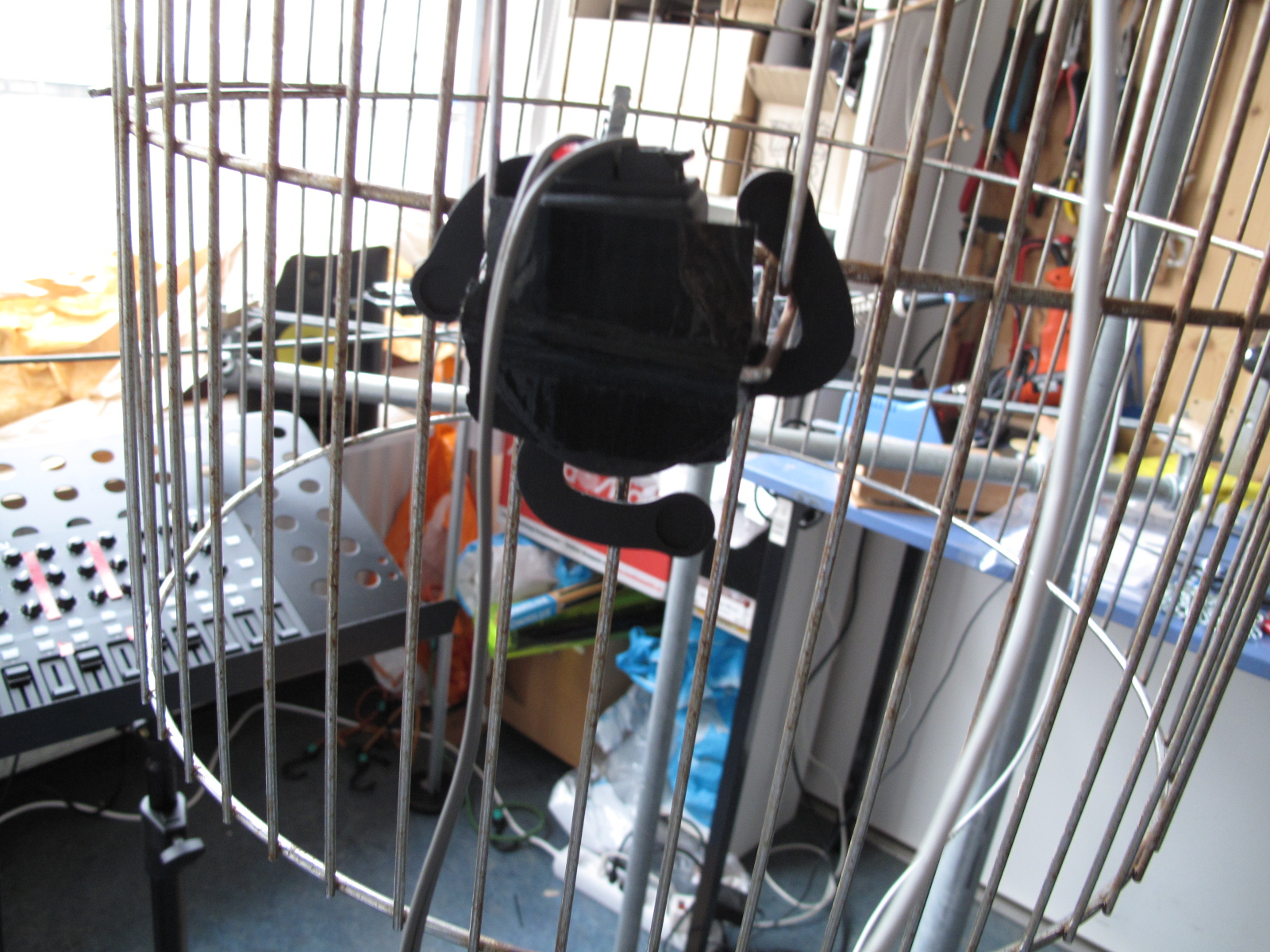 The tactile transducer bird cage exciter body shaker