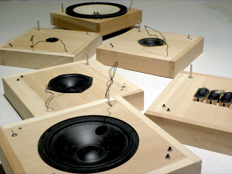 loudspeaker cones contact microphones