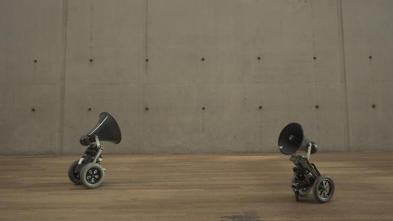 robots sound space movement